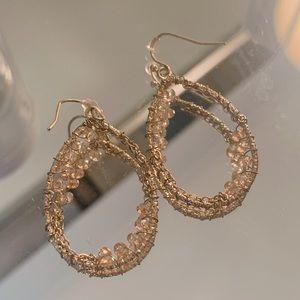 NEW gold  beaded earrings